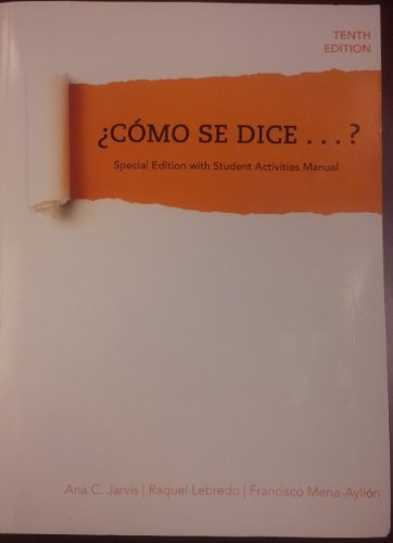 9781285110936: Como Se Dice...? Special Edition with Student Activities Manual (Como Se Dice..?)