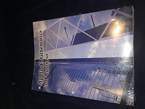 9781285111315: Applied Mathematics for Business