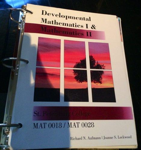 9781285111629: Developmental Mathematics 1 & 2 (Mat 0018/0028)