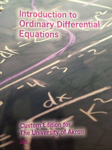 9781285112060: Introduction to Ordinary Differential Equations - Custom Edition for The University of Akron