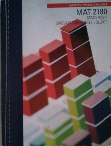 9781285119113: MAT 2180 Statistics II, Sinclair Community College