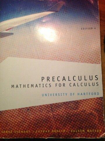 9781285119182: Precalculus: Mathematics for Calculus University of Hartford