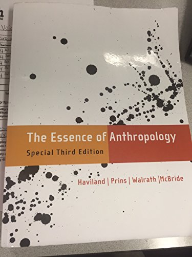 The Essence of Anthropology - Special Third Edition: Bunny McBride, Dana Walrath, Harald E. L. ...