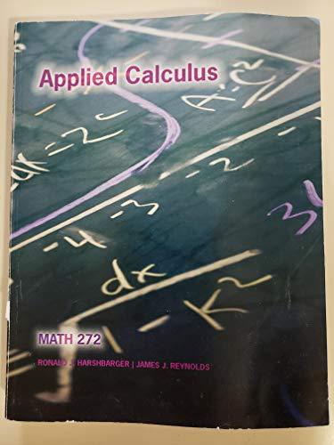 9781285123141: Applied Calculus Math 272