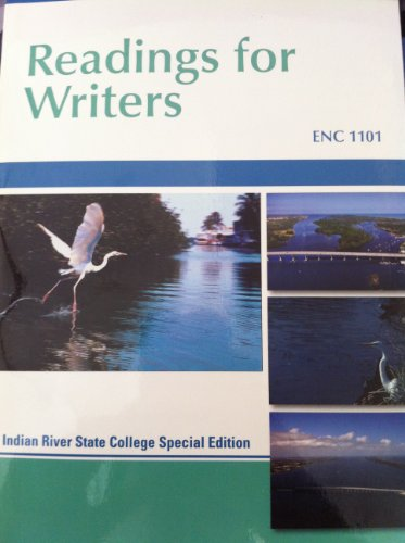 9781285125985: Readings for Writers ENC 1101 Irsc Edition