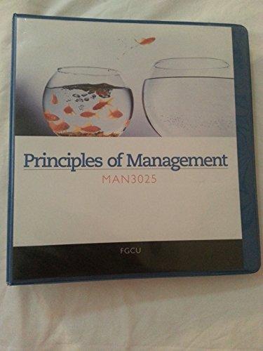 Principles of Management Man3025 FGCU (FGCU) (1285126084) by Richard L. Daft