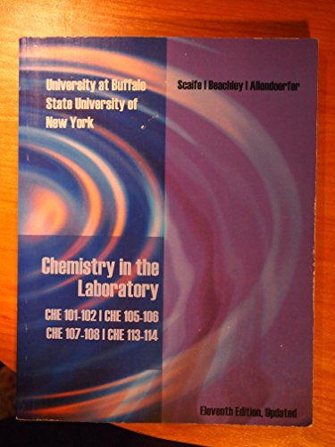 9781285129891: Chemistry in the Laboratory CHE 101-102 CHE 105-106 CHE 107-108 CHE 113-114