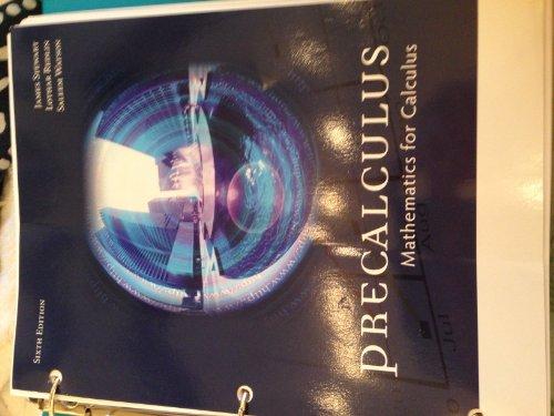 PRECALCULUS:MATH.F/CALCULUS >CUSTOM<: James Stewart, Lothar