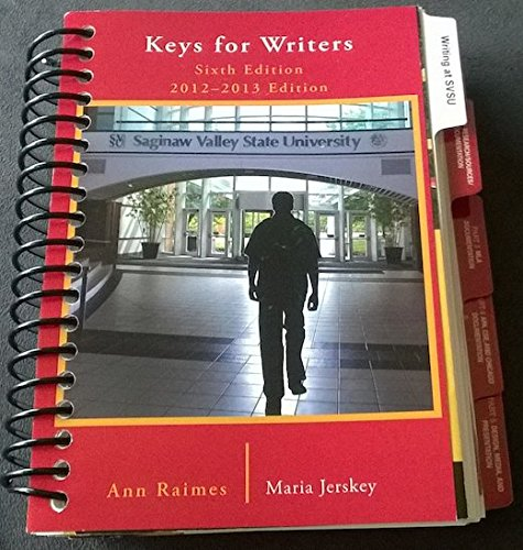9781285133270: Keys for Writers (6th edition)
