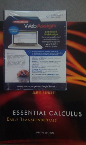 9781285133409: Essential Calculus: Early Transcendentals (With Enhanced WebAssign) (Special Edition)