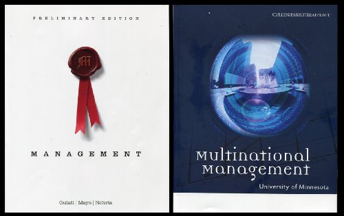 9781285133812: Pkg2 Managment & Multinational Management (U of MN Custom)