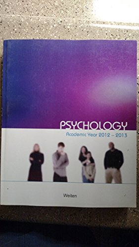 Psychology Textbook with Psychtrek 3.0 CD: Weiten / Mae