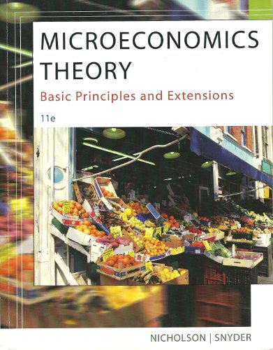 9781285136219: Microeconomic Theory: Basic Princ. & Ext. 11th (U of MN Custom)