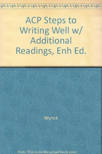 9781285137803: ACP Steps to Writing Well w/ Additional Readings, Enh Ed.