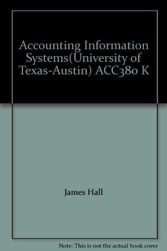 9781285140735: Accounting Information Systems(University of Texas-Austin) ACC380 K