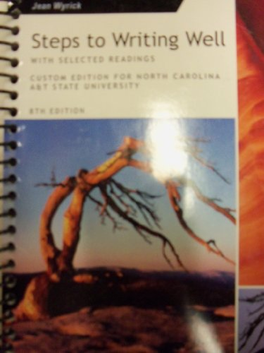 9781285142425: Steps to Writing Well; well With Selected Readings [8 E] (Custom for North Carolina A&T State University)