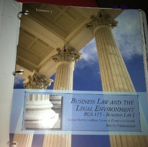 9781285143316: Business Law and the Legal Environment BUS 115 Wake Technical Community College by Beatty and Samuelson