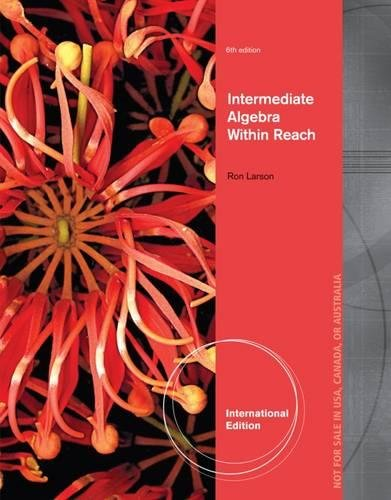 9781285160276: Intermediate Algebra: Algebra Within Reach, International Edition