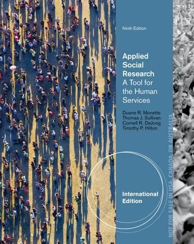 9781285162324: Applied Social Research: A Tool for the Human Services, International Edition