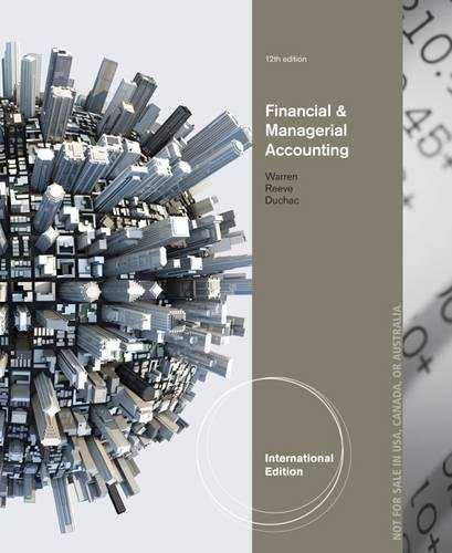 9781285163734: Financial & Managerial Accounting, International Edition