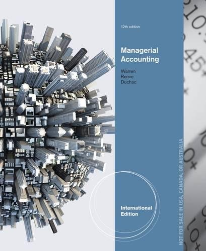 9781285163789: Managerial Accounting