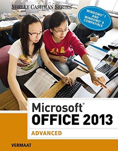 9781285166230: Microsoft Office 2013: Advanced (Shelly Cashman Series)