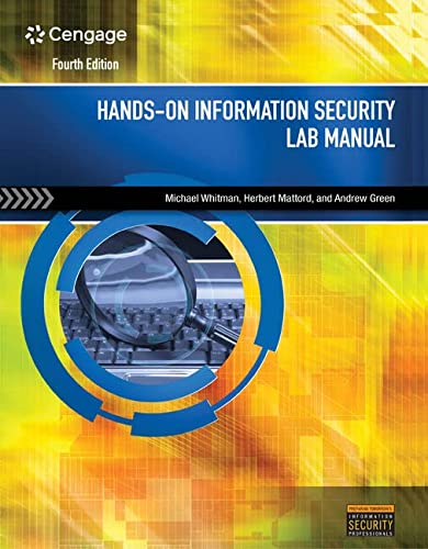 9781285167572: Hands-On Information Security Lab Manual