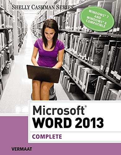 9781285167725: Microsoft Word 2013: Complete (Shelly Cashman Series)