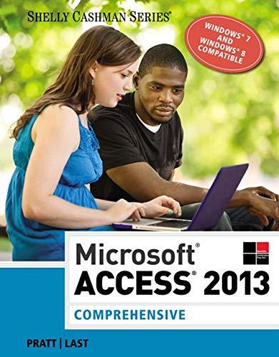 9781285168968: Microsoft Access 2013: Comprehensive (Shelly Cashman Series)