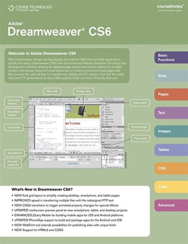9781285172378: Adobe Dreamweaver CS6 CourseNotes