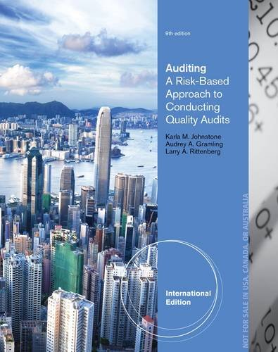 9781285176178: Auditing: A Risk-Based Approach to Conducting a Quality Audit