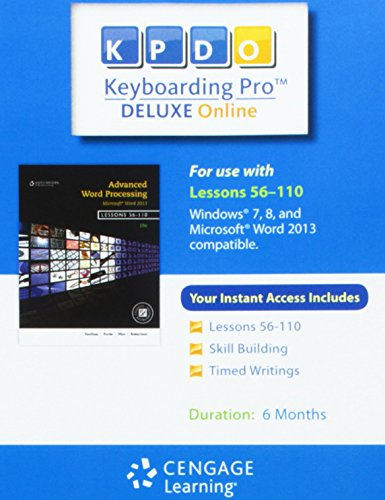 Keyboarding Pro Deluxe Online Lessons 56-110 6-Month Printed Access Card (Hardback)