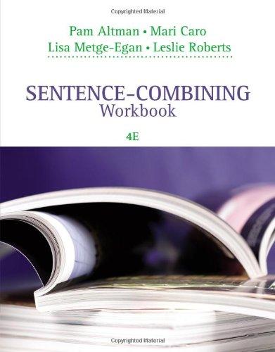 9781285177113: Sentence-Combining Workbook