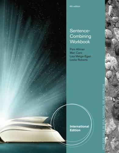 9781285177182: Sentence-Combining Workbook