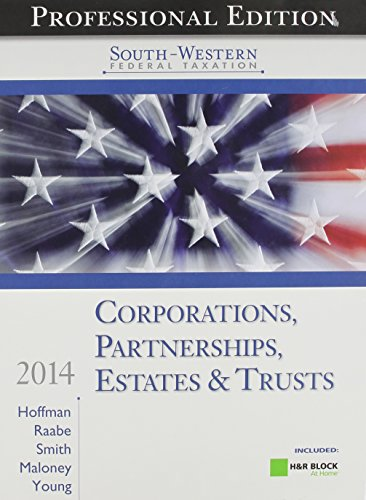 9781285180755: South-Western Federal Taxation 2014: Corporations, Partnerships, Estates and Trusts, Professional Edition (with H&R Block @ Home CD-ROM)
