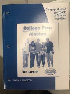 9781285182773: Stdt WB College Prep Algebra