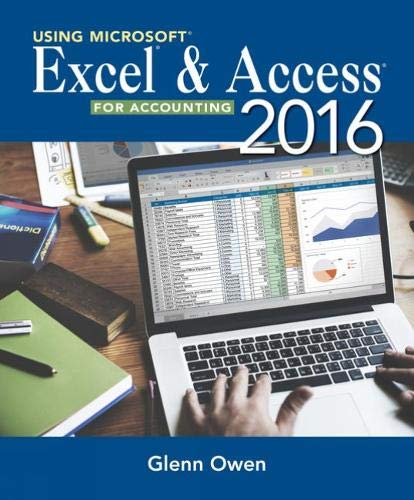 9781285183473: Using Microsoft Excel and Access 2013 for Accounting (with Student Data CD-ROM)