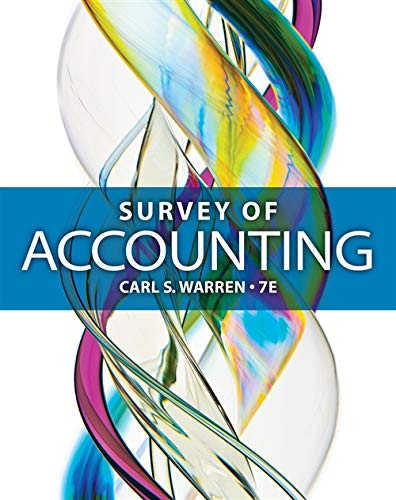 9781285183480: Survey of Accounting