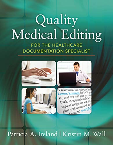 9781285186528: Quality Medical Editing for the Healthcare Documentation Specialist (includes Premium Website Printed Access Card)
