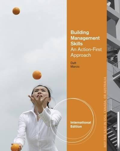 9781285188225: Building Management Skills: An Action-First Approach