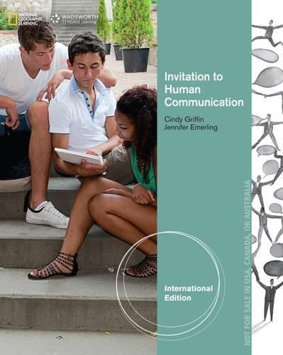 9781285191966: Invitation to Human Communication, International Edition