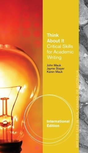 9781285193847: Think About It, International Edition