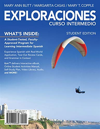 Exploraciones Curso Intermedio (with iLrn Printed Access: Blitt, Mary Ann,