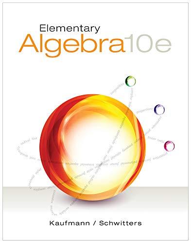 9781285194059: Elementary Algebra
