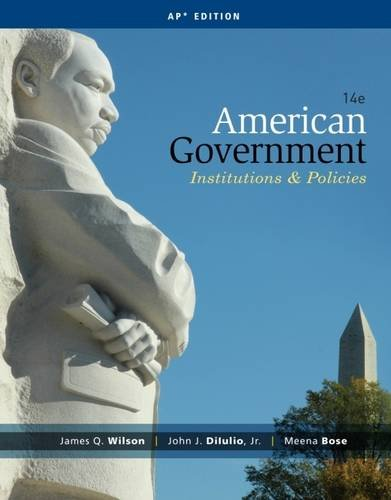 9781285195100: American Government: Institutions and Policies