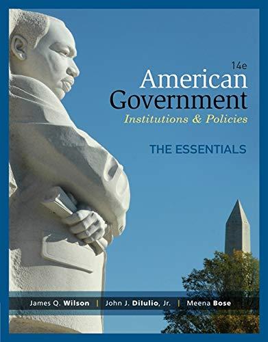 9781285195124: American Government, Essentials Edition