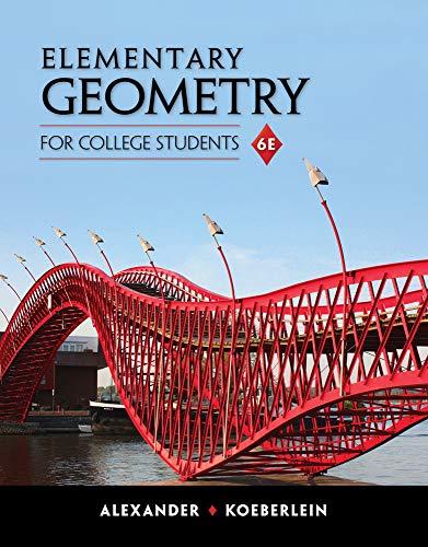 Elementary Geometry for College Students: Alexander, Daniel C.;