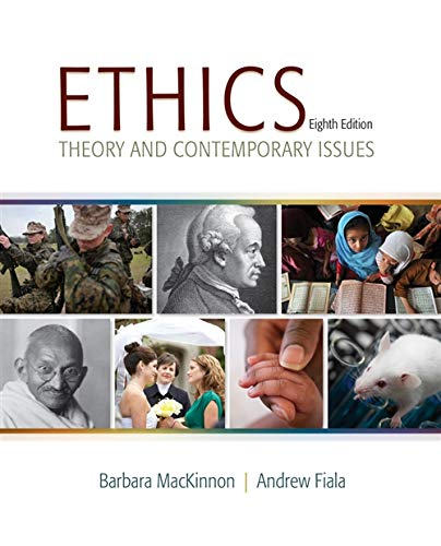 9781285196756: Ethics: Theory and Contemporary Issues