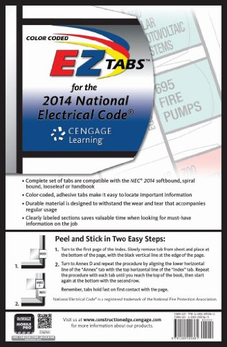 9781285200361: Color Coded EZ Tabs for the 2014 National Electrical Code