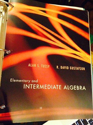 9781285215365: Elementary and Intermediate Algebra 5th Edition